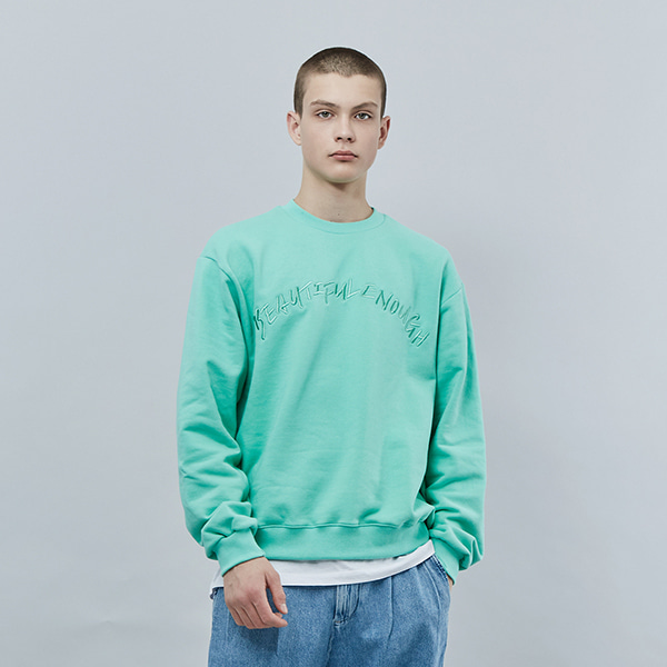 COLOR BALLOON SWEAT SHIRT MINT