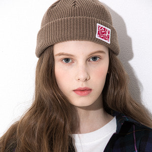 KOREA CALLI BEANIE BROWN
