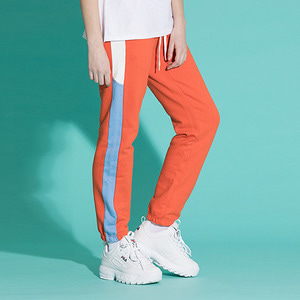 [기모]LINE SWEAT JOGGER PANTS ORANGE