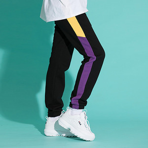[기모]LINE SWEAT JOGGER PANTS BLKPURPLE