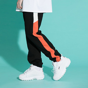 [기모]LINE SWEAT JOGGER PANTS BLKORG