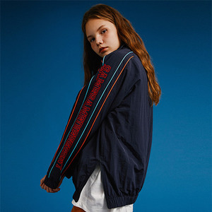 COLOR LINE HALF ZIP UP JACKET