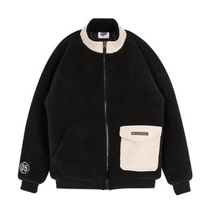 CORDUROY POCKET FLEECE JACKET BLACK