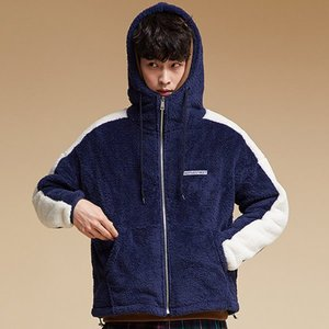 SIDE LINE FLEECE HOOD ZIPUP NAVY