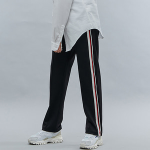 [기모]LINE TAPE TRACK PANTS BLACK