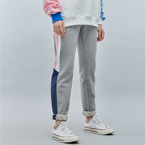 [기모]LINE SWEAT JOGGER PANTS GRAYPINK