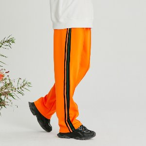 [LAST SIZE]LINE TAPE TRACK PANTS ORANGE